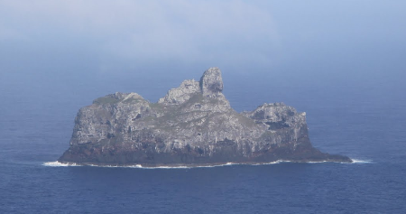 The southern island of Marotiri in French Polynesis - the closest thing to Dante's Mount Purgatory.