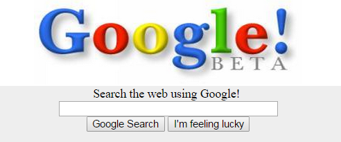 From the Google home page, December 2nd 1998.