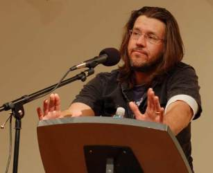 David Foster Wallace at the lectern