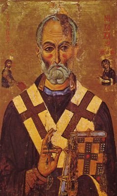 Picture of St Nicholas from the early 1200s