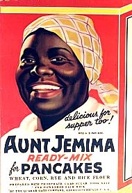 the stereotypical mammy in the modern advertisement of aunt jemima The mammy stereotype was the main way white americans looked at black women from the early 1800s to the 1950s think of aunt jemima, hattie mcdaniel in gone with the wind (1939) and even nell carter in gimme a break (1981-1987).