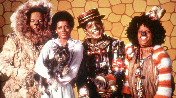 """Diana Ross, Nipsey Russell and Michael Jackson in """"The Wiz"""" (1978"""