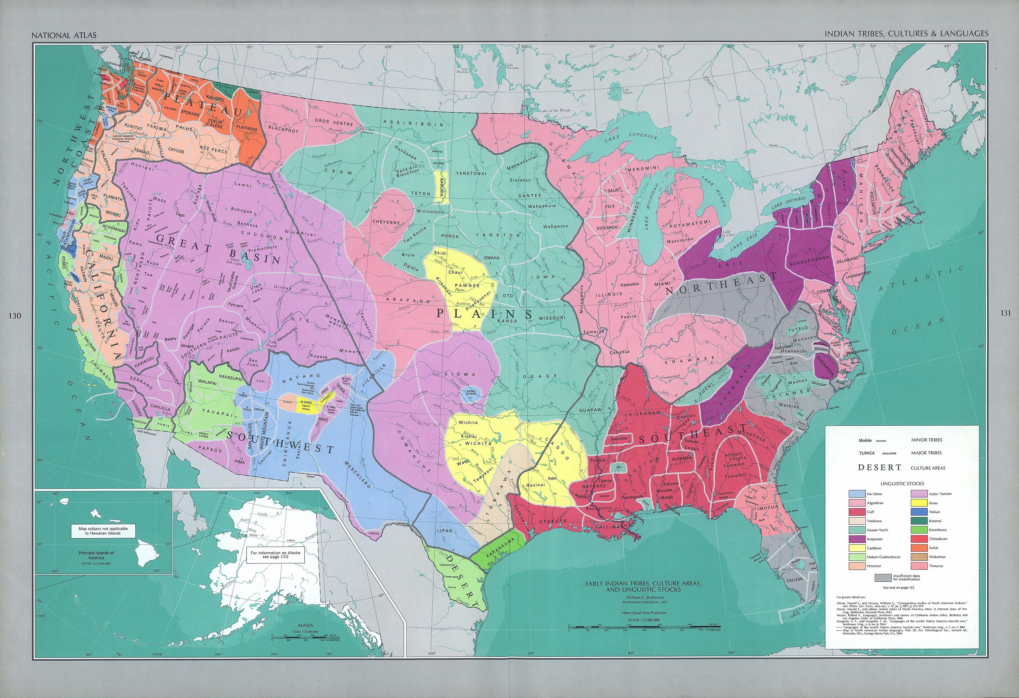 Native American Tribes Maps North America
