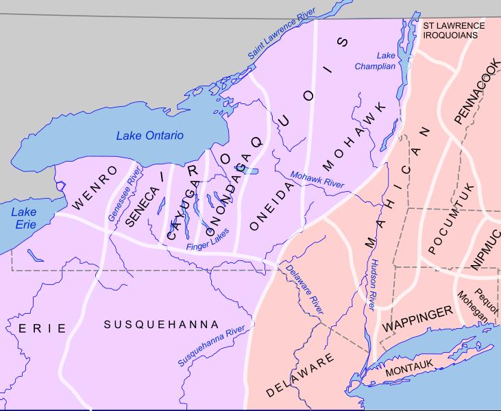 Iroquois Confederacy Map Iroquois | Abagond