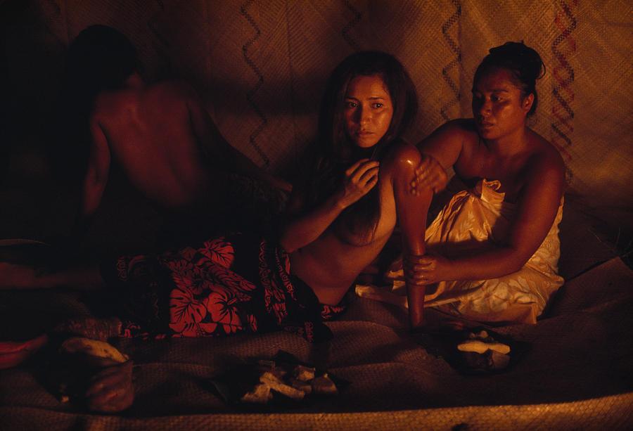 Topless Tahitian Dancer Is Annointed Gordon Gahan Sept Natgeo
