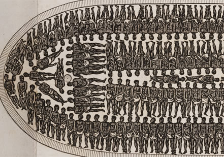 African slave ship diagram