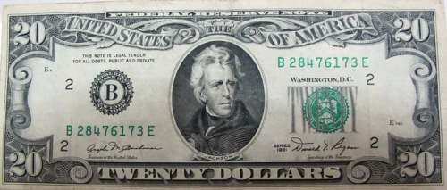 20 dollar bill from 1981