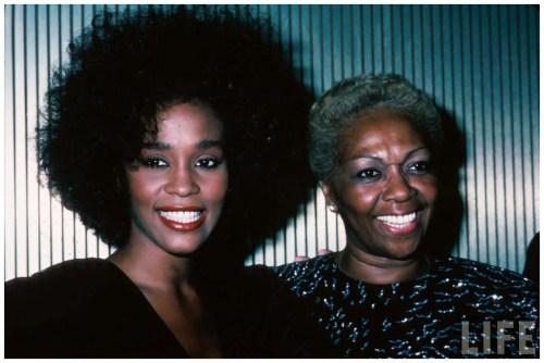 Whitney Houston with her mother, 1987
