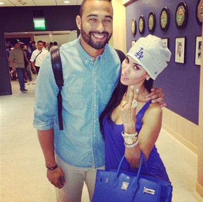 Stiviano and Matt Kemp