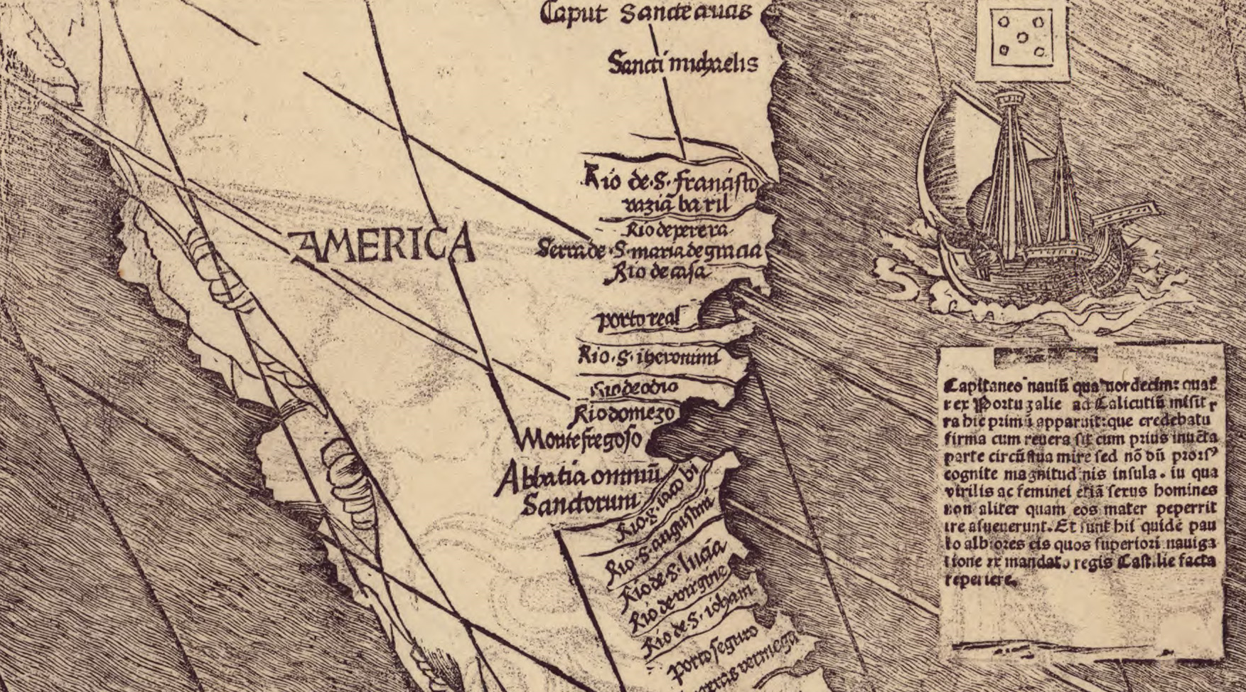 The term america abagond waldseemullermapcloseupwithamerica detail from waldseemullers world map gumiabroncs Images