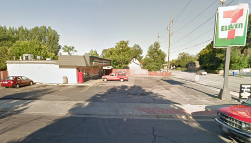 The 7-Eleven where Taylor was shot dead: 420 E 2700 S, South Salt Lake, UT 84115. (Google Street View)