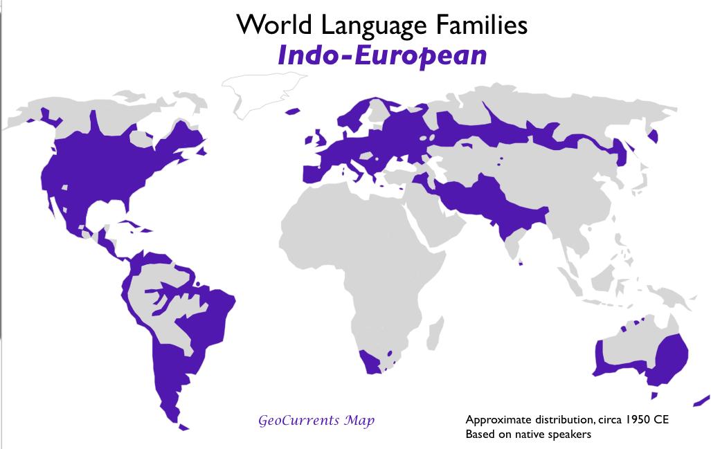 the proto indo european language family originated in