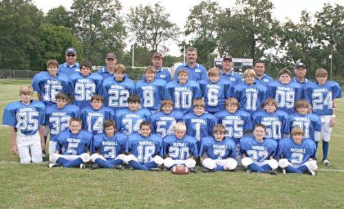 Marshall Academy Pee Wee football team (Holly Springs, MS)