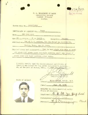 Certificate of Identity