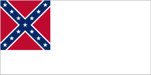 The 1863 Confederate national flag.