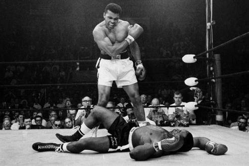 boxeo-Cassius Clay vs Sonny Liston