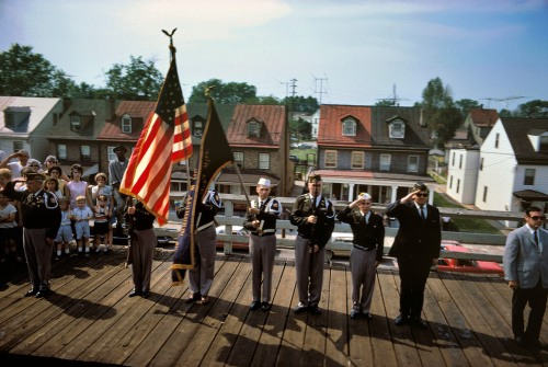 USA. Bristol, PA. 1968. Robert KENNEDY funeral train.