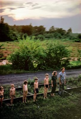 USA. Harmans, MD. 1968. Robert KENNEDY funeral train.