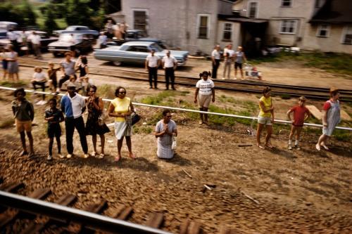 USA. 1968. Robert KENNEDY funeral train.