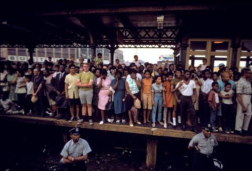 USA. Philadelphia, PA. 1968. Robert Kennedy funeral train.