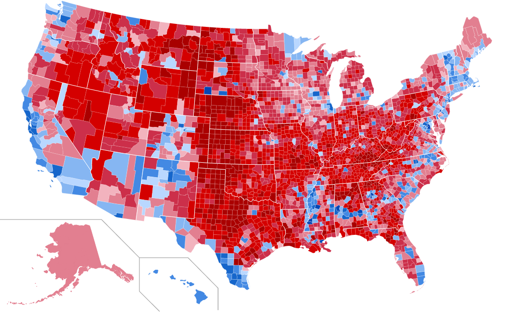 The 2016 Election By County  Abagond