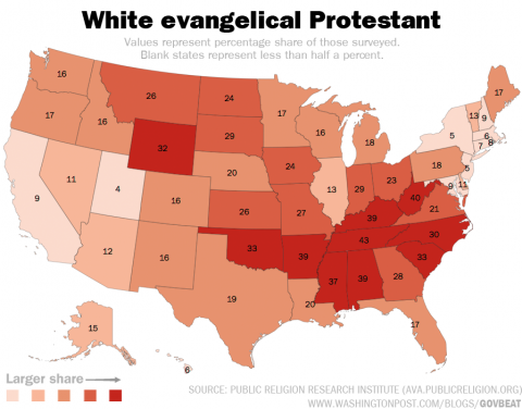 white-evangelical-protestant-map