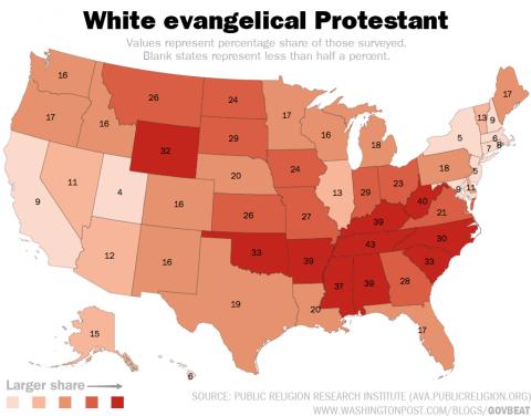 white-evangelical-protestant-map