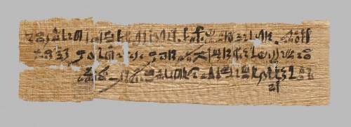 Working Title/Artist: Letter written in hieratic script on papyrusDepartment: Egyptian ArtCulture/Period/Location: HB/TOA Date Code: Working Date: Digital Photo File Name: DP234741 Online Publications Edited By Steven Paneccasio for TOAH 3/3/15