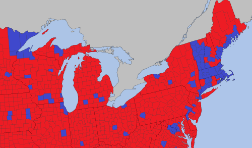 northern-counties-where-most-whites-voted-for-hillsry-clinton