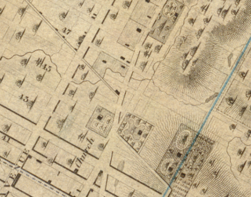 1836: When the Times Square area was still mainly just farms.