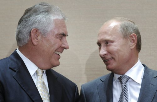 Tillerson and Putin in 2011.
