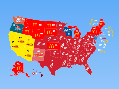 Fast Food Restaurants Per State
