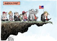 Image result for trump as pied piper